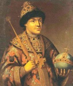 Человек с кадуцеем и щитом, посохом и державой