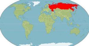 Россия на севере и самая большая занимаемая ею площадь